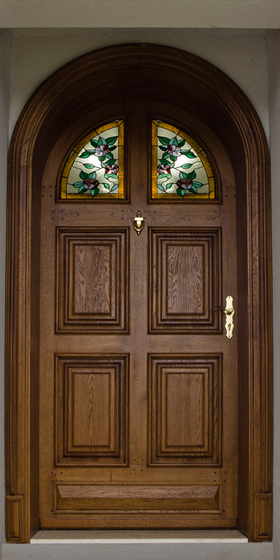 Arched Oak Exterior Door